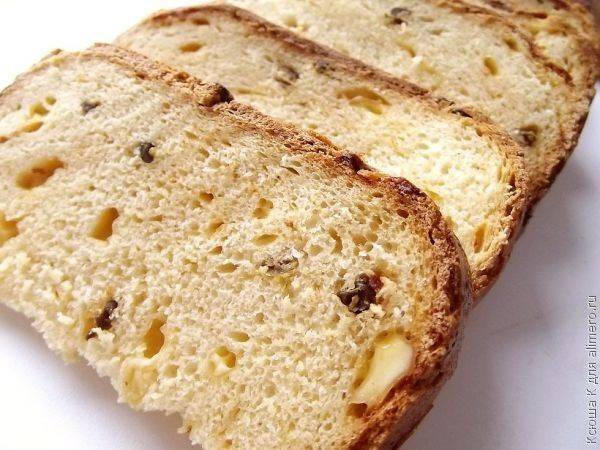 Хлеб с паприкой и сыром в хлебопечке