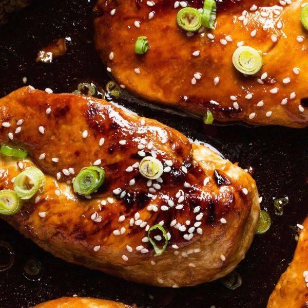 Куриные грудки под пикантным соусом в азиатском стиле