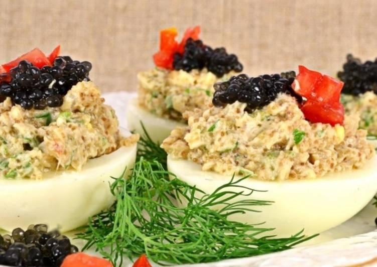 Начинка для фаршированных яиц: варианты, рецепты. фаршированные яйца на праздничный стол