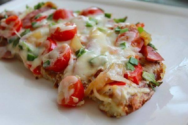 Пицца на картофельной основе