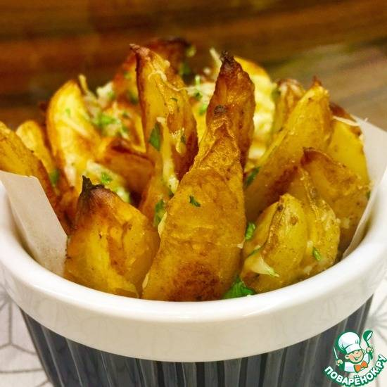 Картошка круглая в духовке с сыром