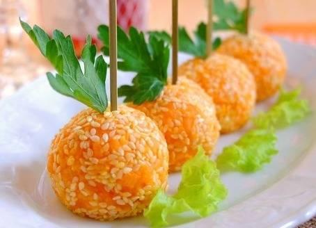Шарики закусочные. рецепты от сибмам с фото
