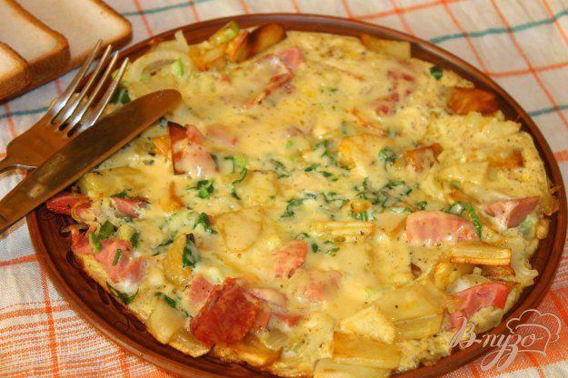 Картофельный пирог в яичной заливке