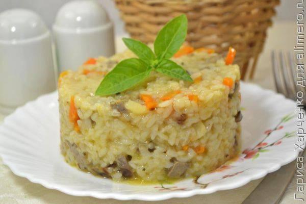 Как приготовить рис с овощами и свиным сердцем