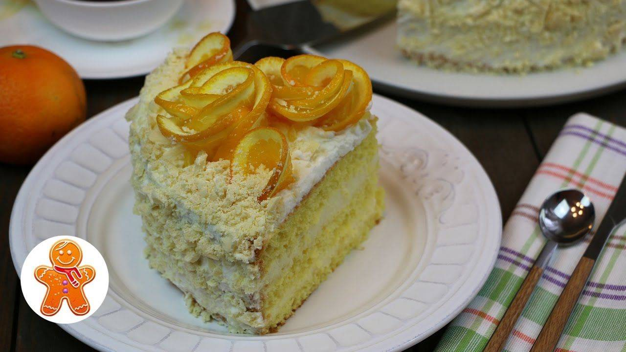 """Апельсиновый торт без выпечки """"Белоснежка"""""""