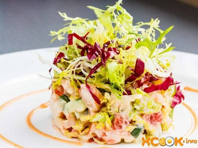 Салат с креветками в лодочках из авокадо - 11 пошаговых фото в рецепте