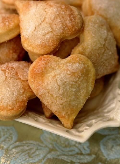 Печенье-сердечки с джемом