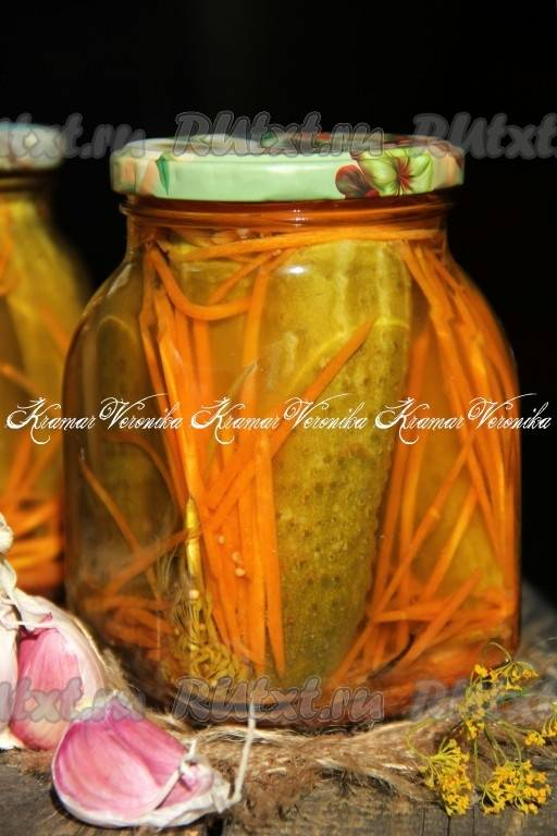 Огурцы, маринованные по-корейски на зиму - 9 пошаговых фото в рецепте