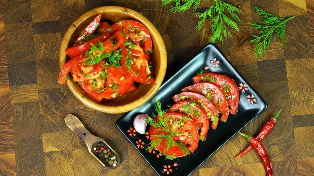 Закуска из помидор: пошаговый рецепт с фото