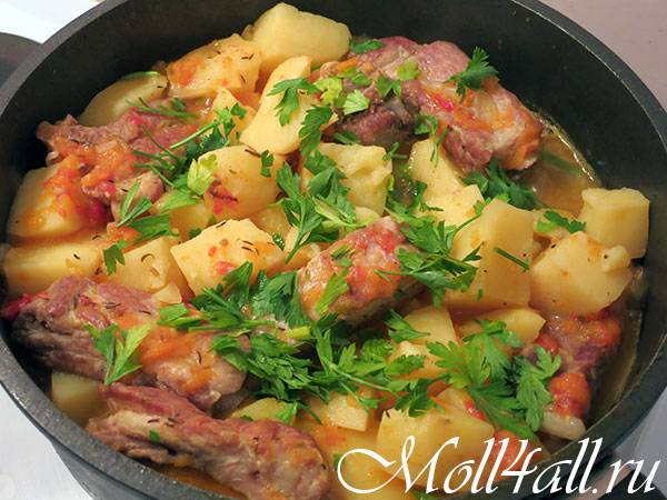 Тушеная картошка с курицей: рецепты с фото