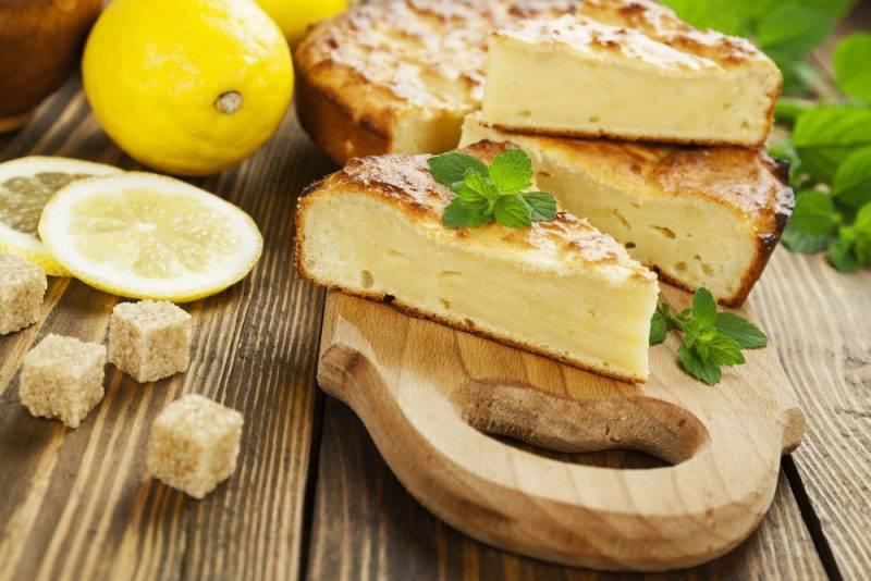 Творожная запеканка на лимоннике