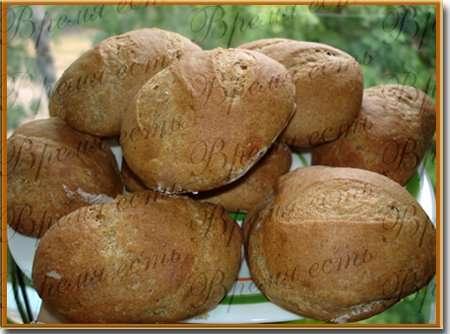 Свекольные булочки из ржаной и цельнозерновой муки