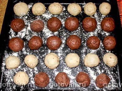 Рецепт двухцветного печенья с какао
