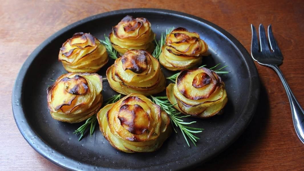 Картофельное пюре с морскими деликатесами