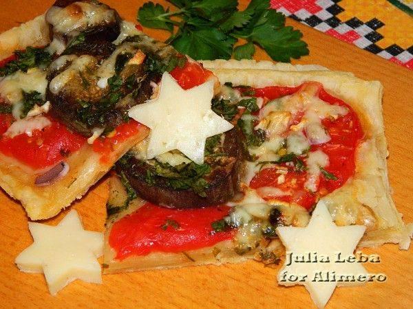 Пицца с баклажанами: рецепт с фото