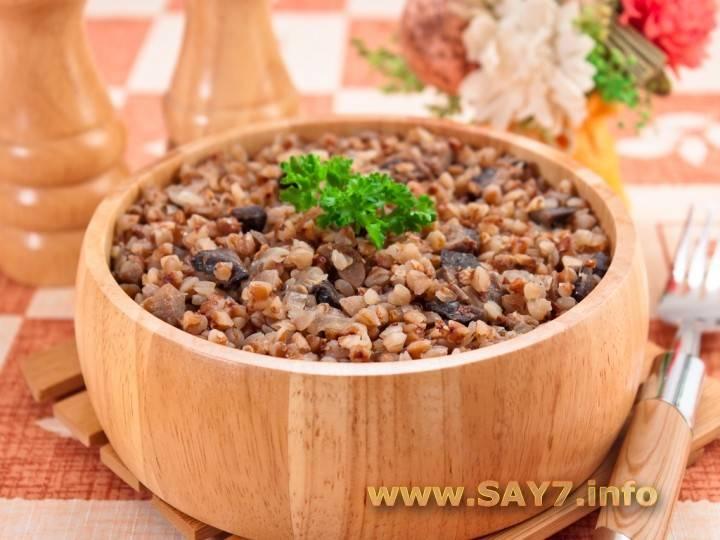 Рецепты каши с грибами: гречневой, перловой