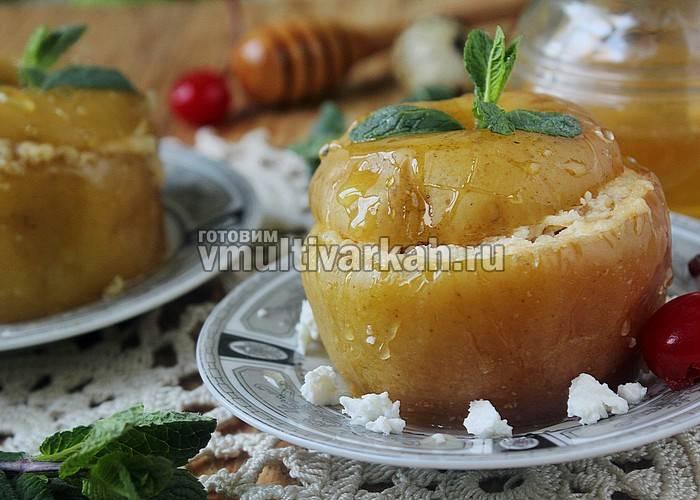 Яблоки запеченные дольками в мультиварке. печеные яблоки в мультиварке: рецепты