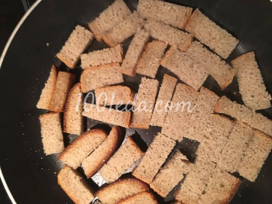 Гренки к пиву из черного хлеба с чесноком как в баре
