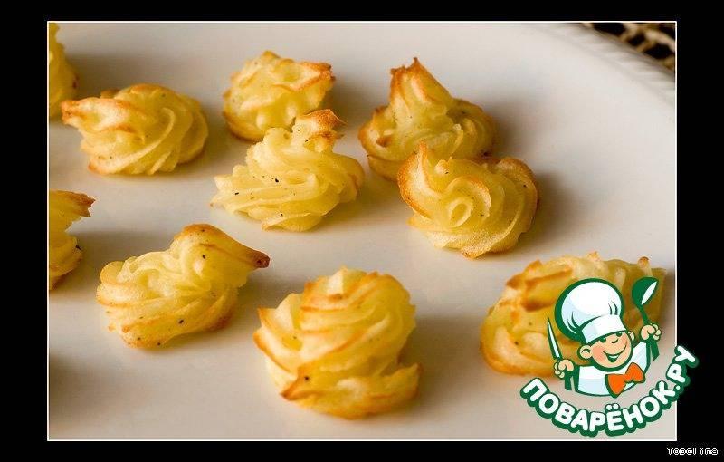 Картофельные розочки - 8 пошаговых фото в рецепте