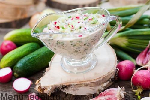Греческий соус из йогурта