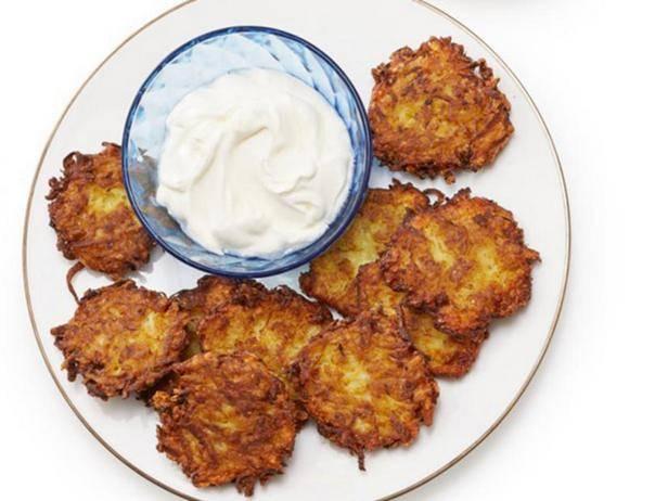 Картофельные латкес с иерусалимским артишоком (potato, jerusalem artichoke latkes)