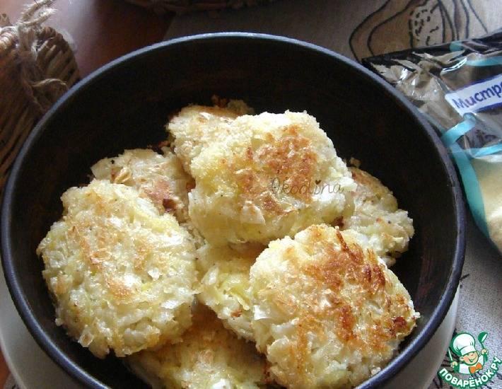 Кабачки в сырной панировке