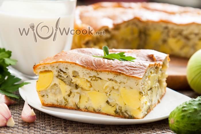 Пирожки с печенью, овощами и яйцом