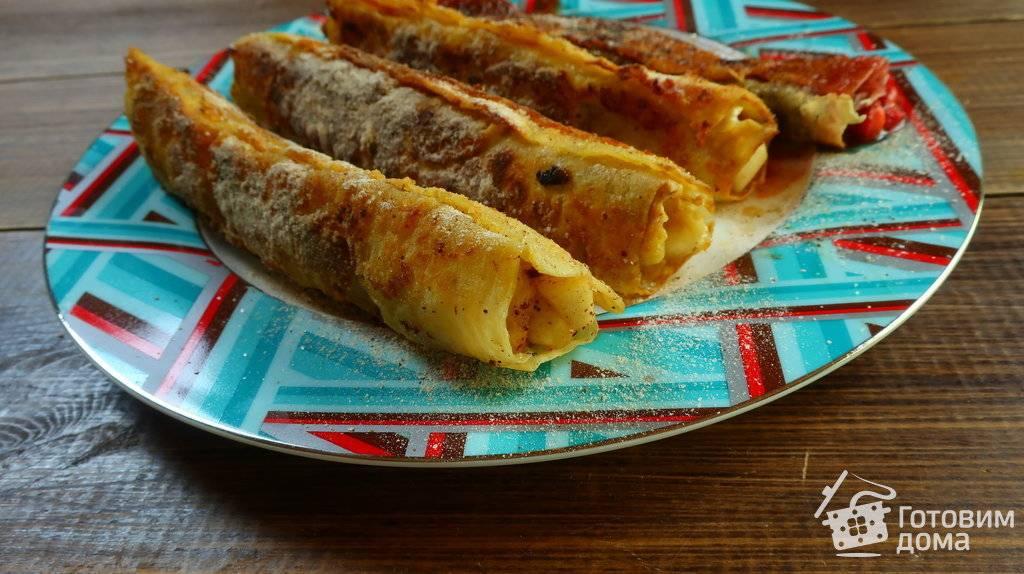 Французские жареные тосты с клубникой и сливочным сыром