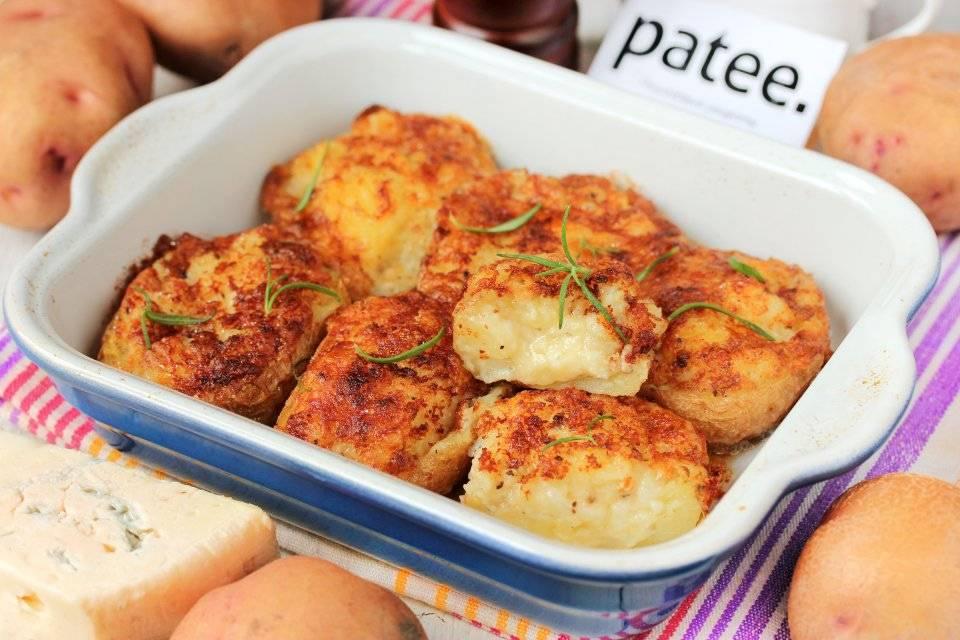 Лодочки из картофеля с начинкой