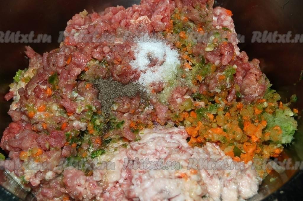 Пельмени с мясом и капустой