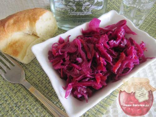 Как вкусно приготовить краснокочанную капусту