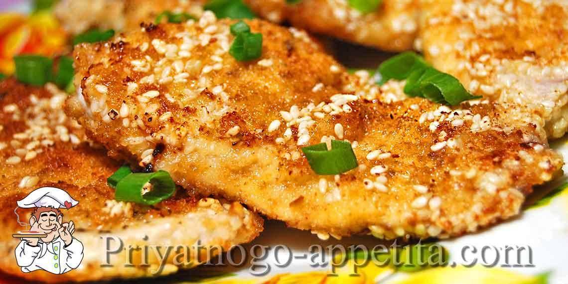 Рыбные котлеты в ореховой панировке