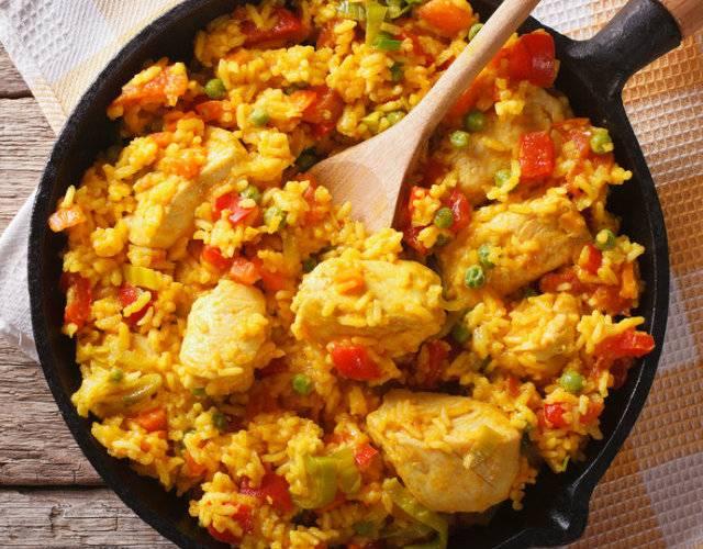 Как приготовить паэлью с морепродуктами и курицей