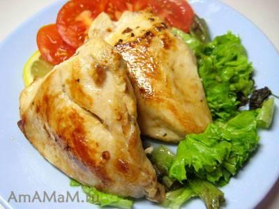 Макароны с куриным филе и овощами