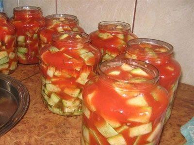 Кабачки с томатной пастой на зиму - пошаговые рецепты консервирования в домашних условиях