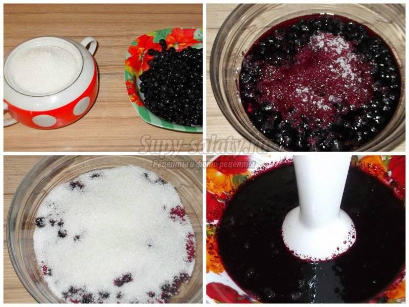 Протертая черника с сахаром на зиму в морозилке. pravilnohranuedy.ru