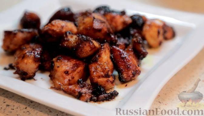 Куриная грудка в медово-соевом соусе рецепт с фото
