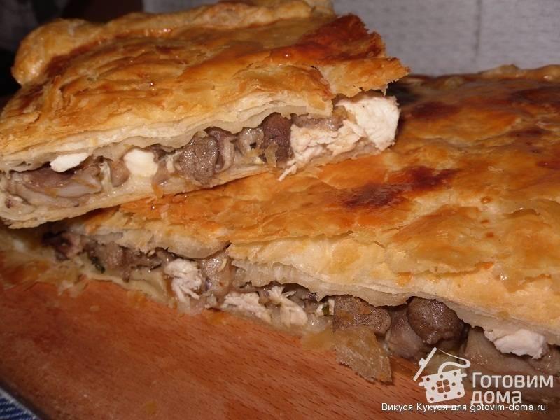 Закусочный пирог с картофелем и грибами