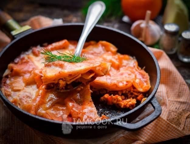Лазанья на сковороде: простые рецепты сытного ужина