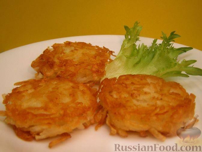 Пошаговый рецепт приготовления картофельных оладий с фото