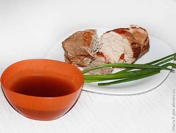 Cвинина с имбирем, соевым соусом и саке (тясю). | сам себе повар