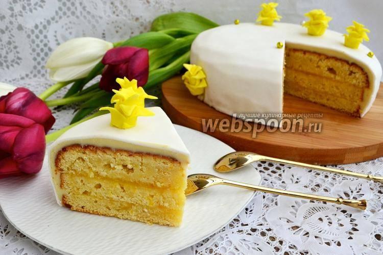 Рецепты с фото вкусного домашнего бисквитного лимонного торта