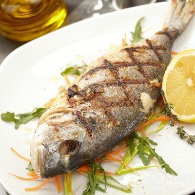 Запеченная рыба с овощами — дорадо на гриле с овощным гарниром