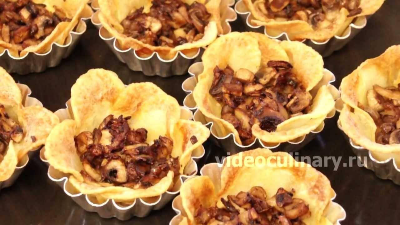 Как приготовить картофельные тарталетки и цветы из картофеля с начинкой