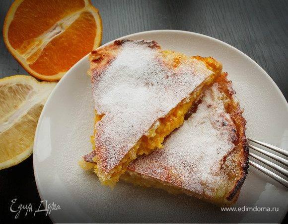 Творожный пирог с ягодами в мультиварке.