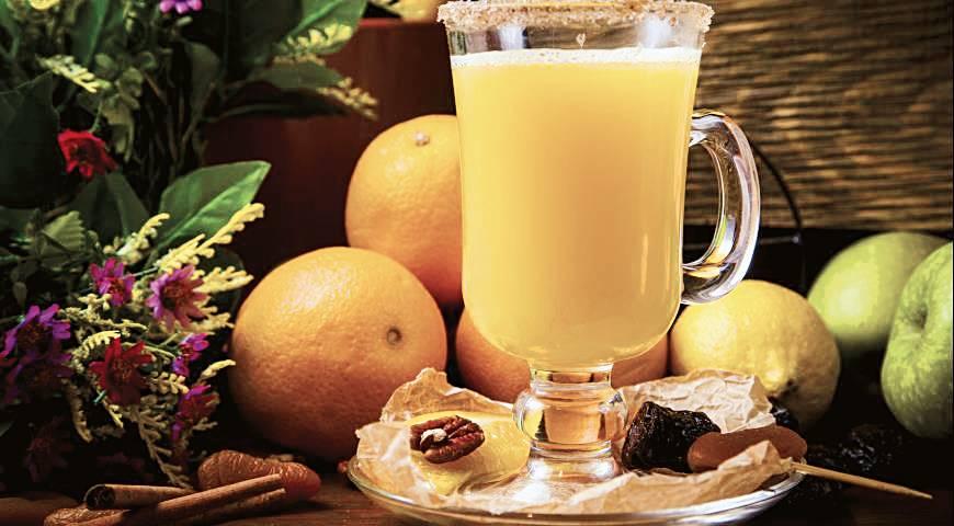 Чай с имбирем и клюквой