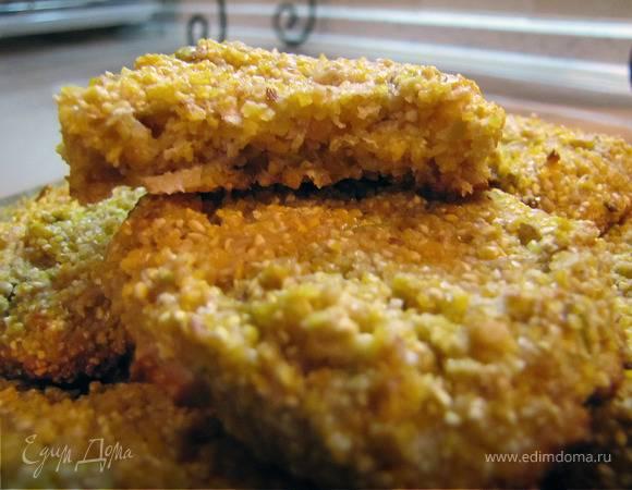 Пряное постное печенье из кукурузной муки