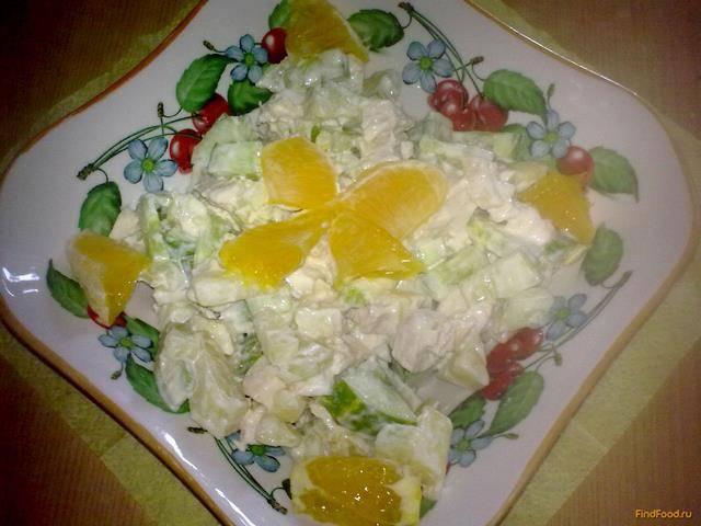 Салат из огурцов и апельсинов - 6 пошаговых фото в рецепте