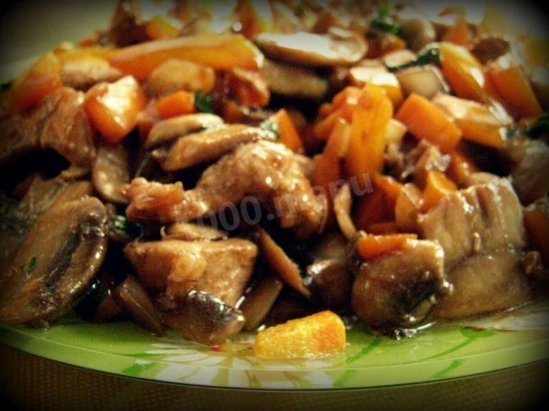 Стир-фрай с рисом и овощами