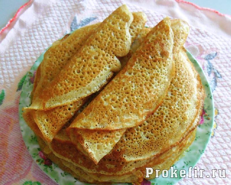 Тесто для тонких блинов на кефире